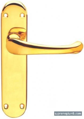 Hilton Lever Latch Polished Brass